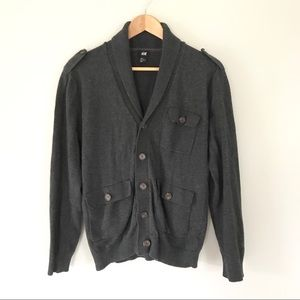 H&M Grandpa Military Style Cardigan Button Down